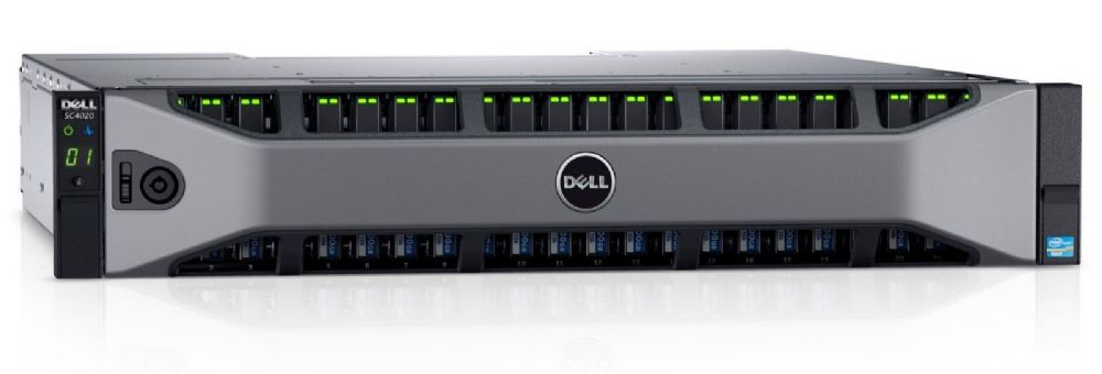 Dell Compellent SC4020 FC Storage Array 2x 2-Port 16Gb FC Controller 61.44TB SSD